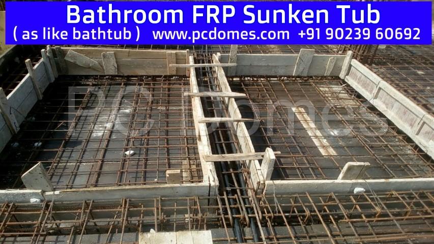 waterproofing new construction,kbrs shower slope,FRP LINING,Concrete Bathroom Toilet Leakage Waterproofing,Gel Coated Fiberglass Sunken Tub Is the best Waterproofing Solution