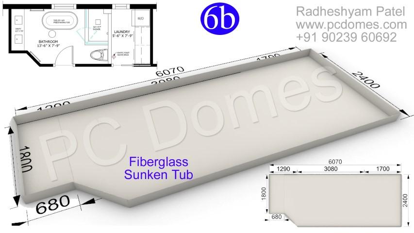 sunk required for indian wc,water proofing treatment,fiberglass mesh roll,Concrete Bathroom Toilet Leakage Waterproofing,Gel Coated Fiberglass Sunken Tub Is the best Waterproofing Solution